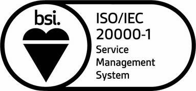 ISO/IEC 20000-1 Service Management System badge